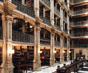 gold, library, and luxury image