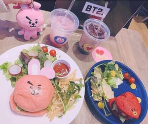 bunny, burger, and drinks image