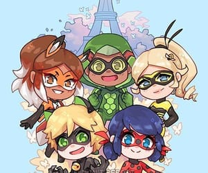 Adrien, marinette, and hawkmoth image