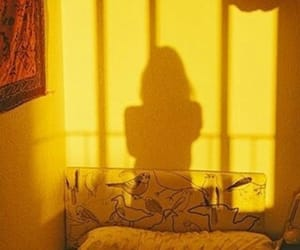 yellow, shadow, and aesthetic image