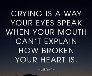 broken heart, crying, and eyes image