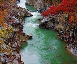 autumn, río, and belleza image