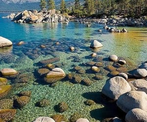 lake, nature, and landscape image