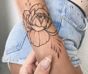 flower, tattoo, and inspiration image