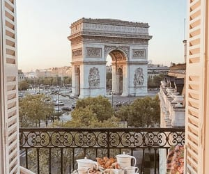 city, paris, and breakfast image