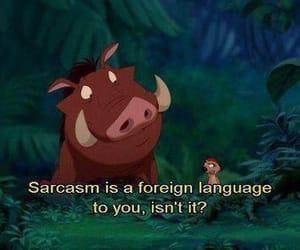 sarcasm, disney, and lion king image