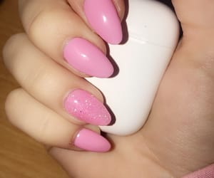 barbie, pink, and hand image