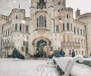 winter, castle, and czech republic image