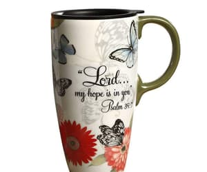 butterfly, mug, and psalm image