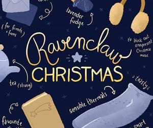 christmas, hogwarts, and ravenclaw image