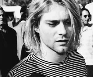 black, frontman, and kurt cobain image
