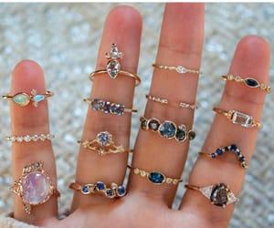 accessory, blue, and diamonds image