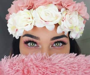 flower crown, girls, and make up image