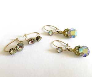 aurora borealis, vintage jewelry, and dangle earrings image