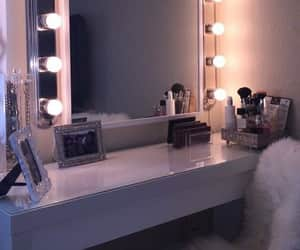 make up, bed goals, and mirror image
