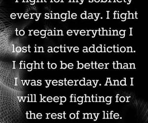 black and white, recovery, and i will fight image