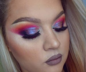 artist, iridescent, and lashes image