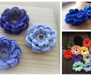crochet and flower image