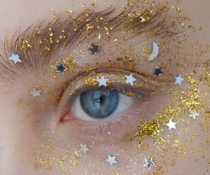 stars, eyes, and glitter image