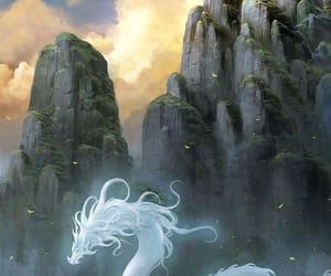 dragon, illustration, and fantasy image