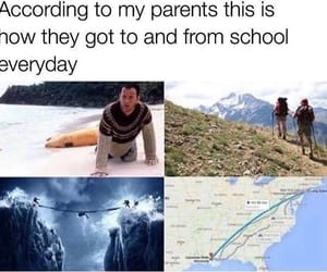 funny, meme, and school image