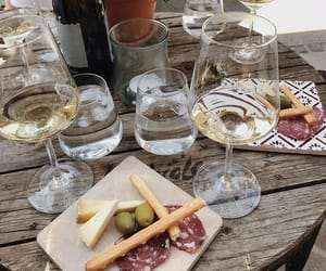 cheese, food, and wine image