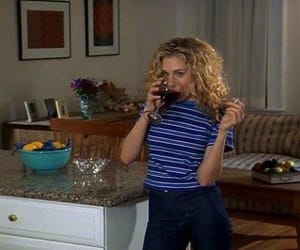 sex and the city, Carrie Bradshaw, and wine image