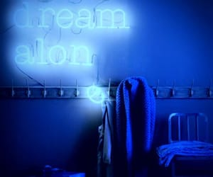 blue, neon signs, and neon quotes image