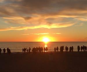 Crowded sunset