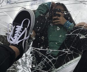 broken, girl, and shoes image