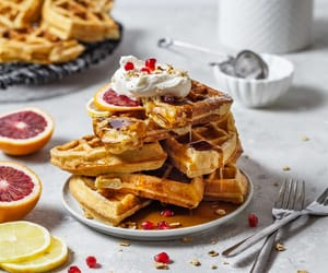 sweets, food, and waffles image