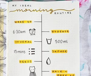 healthy, journal, and routine image
