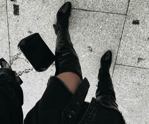 fashion, boots, and bag image