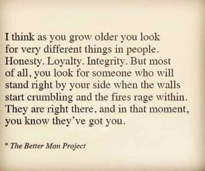 honesty, growing older, and loyalty image