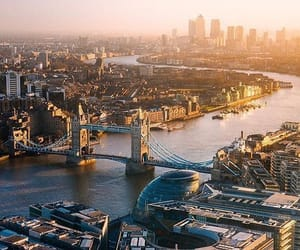 big city, london, and sun light image