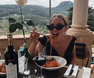 aesthetic, glasses, and lunch image