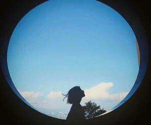 alone, circle, and girl image
