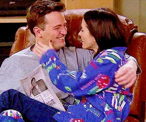 chandler bing, Courteney Cox, and gif image