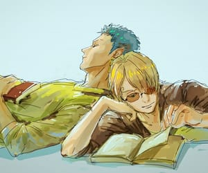 cook, zoro, and one piece image