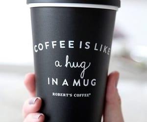 coffee, mug, and black image