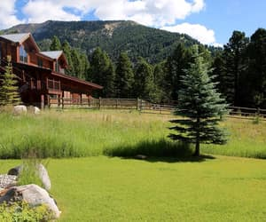 cabin, country living, and ranch image