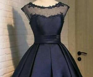 blue homecoming dress, lace prom dresses, and prom dresses 2018 image