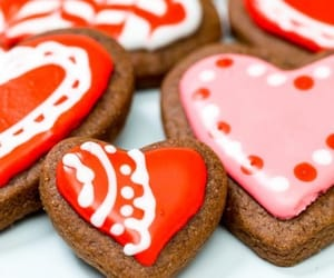 Cookies, heart shaped, and valentines image