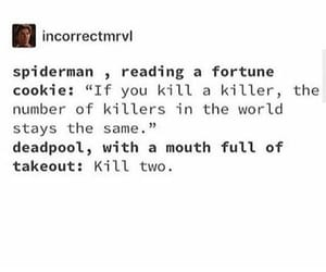 deadpool, fortune cookie, and funny image