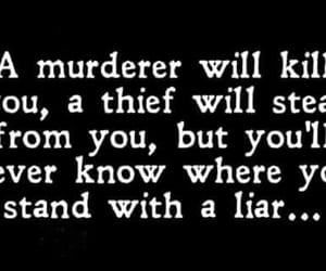kill, murderer, and liar image