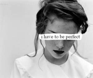 perfect, sad, and quotes image