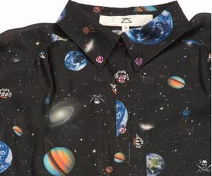 shirt, space, and fashion image
