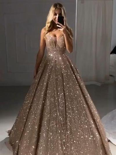 Ball Gown Gold Prom Dress Plus Size Cheap African Prom Dress ...