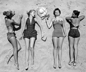 beach, vintage, and summer image