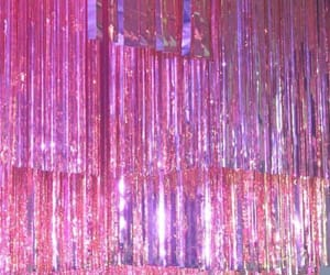 pink, glitter, and sky image